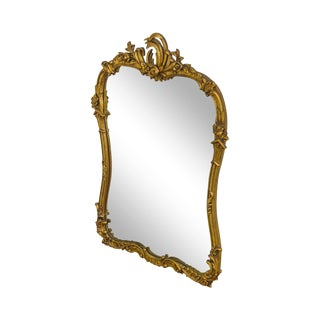 French Louis XV Style Vintage Gilt Carved Mirror For Sale