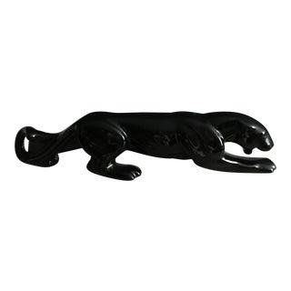 Mid-Century Ceramic Black Panther