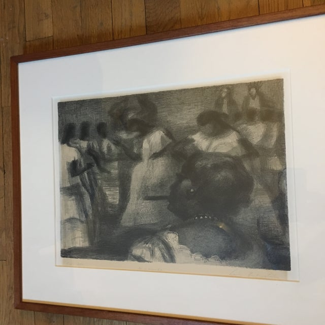"Lithograph, edition of 250, signed & titled ""MACUMBA"" in pencil, published by Associated Artist of America. Matted and..."
