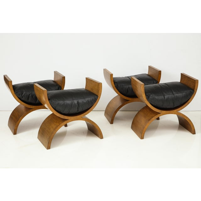 Curule Benches by Jay Spectre (Set of 4) For Sale In New York - Image 6 of 13