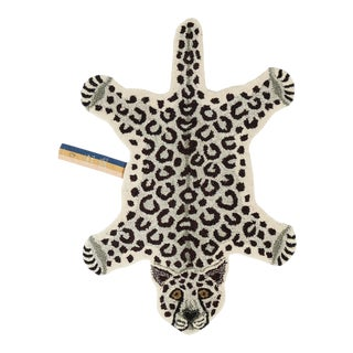Doing Goods Snowy Leopard Rug Small For Sale
