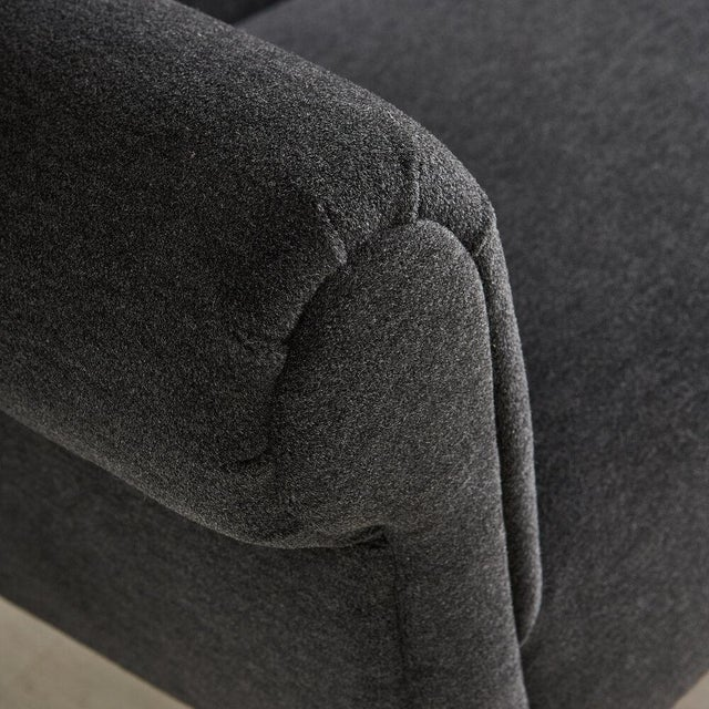 Gigi Radice Italian Settee Loveseat in Charcoal Gray Mohair For Sale In Chicago - Image 6 of 10