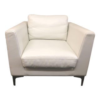 Contemporary Design Within Reach White Leather Albert Chair