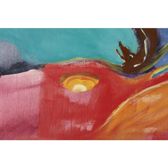 Canvas Abstract Modern Painting by Eve Wasser For Sale - Image 7 of 10