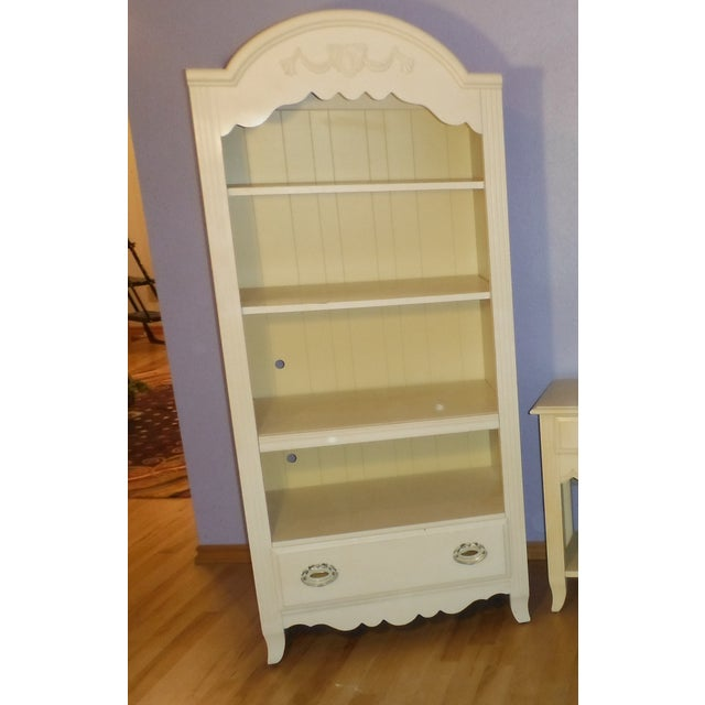 Two Tone Carved and Painted Entertainment Center - Image 6 of 6