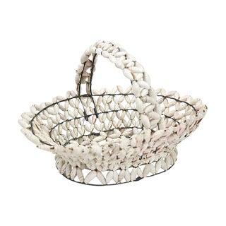New England Sailor's Art Shell Basket For Sale