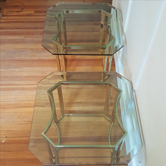 Milo Baughman Style Side Tables - A Pair - Image 5 of 8