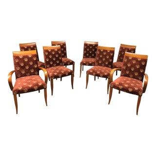 Dakota Jackson Upholstered Cherry Chairs - Set of 8