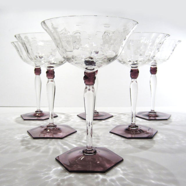 Amethyst & Clear Textured Cocktail Glasses - S/6 - Image 11 of 11