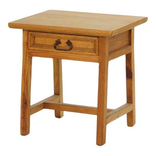 1940s Rustic Cypress Side Table For Sale
