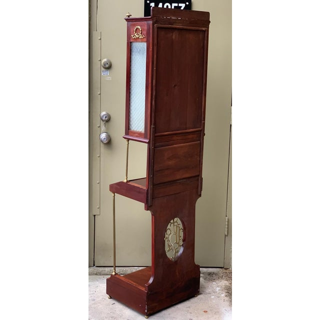 French 19th Century French VIctorian Prie-Dieu, Oratory in Mahogany With Vitrine For Sale - Image 3 of 11