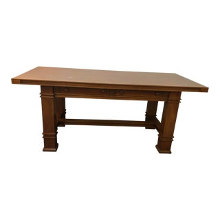 1990s Traditional Custom Made Schwartzendruber Writing Desk For Sale