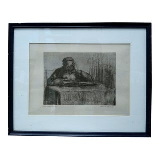 """""""Talmudgelehrter"""" Framed Etching For Sale"""