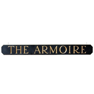 """The Armoire"" Hanging Sign"