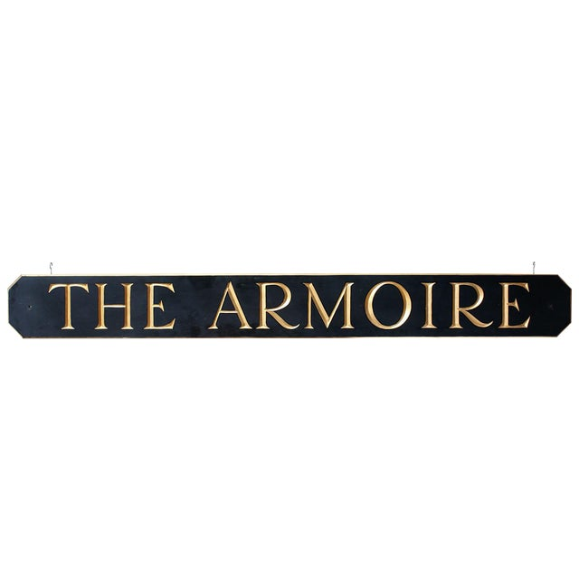 """The Armoire"" Hanging Sign For Sale"