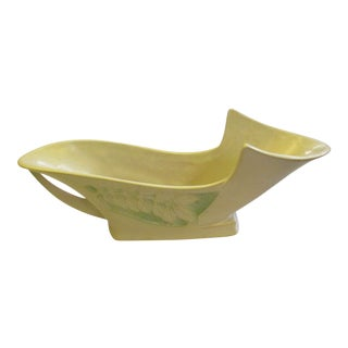 Roseville Pottery Silhouette White Planter For Sale