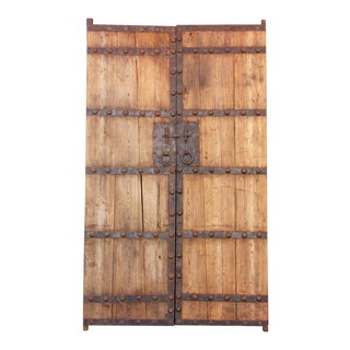 Antique Courtyard Doors - a Pair For Sale
