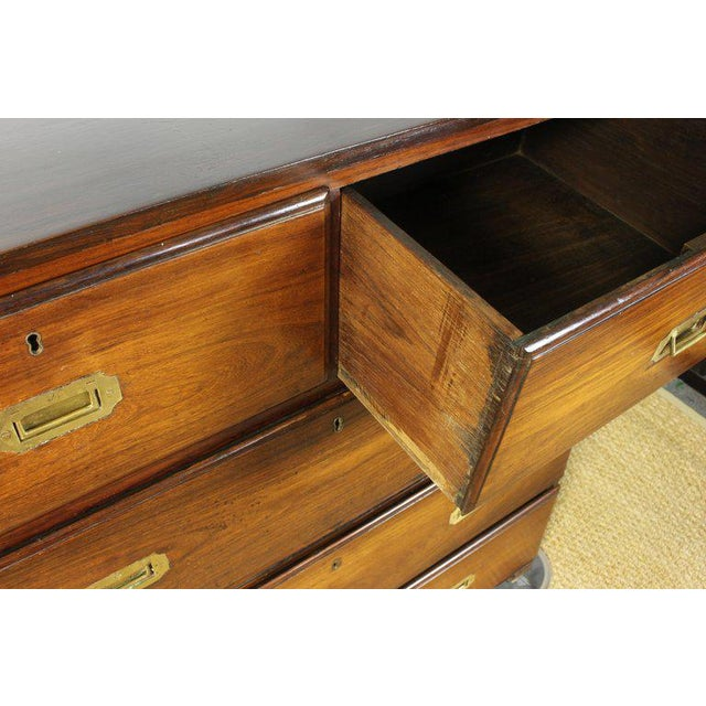 English Rosewood Campaign Chest of Drawers For Sale - Image 10 of 13