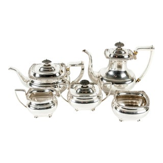 Antique Sterling Silver Tea and Coffee Set For Sale