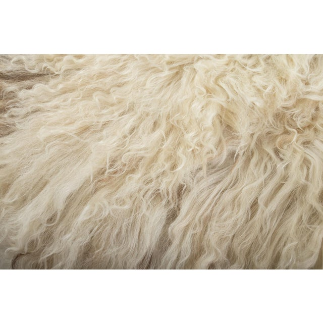 Contemporary Hand-Tanned Sheepskin Pelt Rug - 2′3″ × 3′6″ For Sale - Image 3 of 7