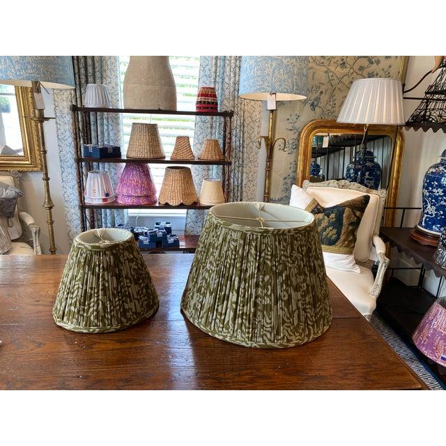 Custom Maison Maison Gathered Lampshade For Sale - Image 4 of 6