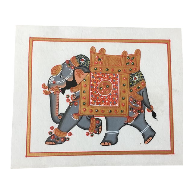 Hand Painted Elephant From Jaipur - Image 1 of 6