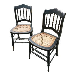 Antique Side Chairs From England - a Pair For Sale