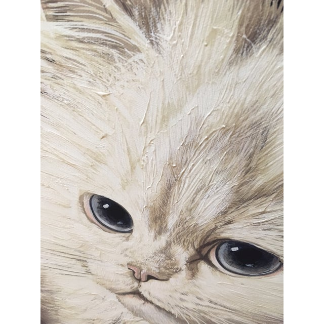 "Antoinette Letterman ""The Resting Cat (Cashmere)"" Giclee Painting For Sale - Image 5 of 8"