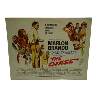 "1966 Vintage ""The Chase"" Movie Poster For Sale"