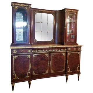 19th Century French Empire Style Credenza and Vitrine by Ame Fournier For Sale