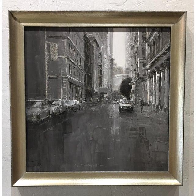 "Contemporary Beckham Contemporary Framed New York City Scene""Grand Street"" For Sale - Image 3 of 7"