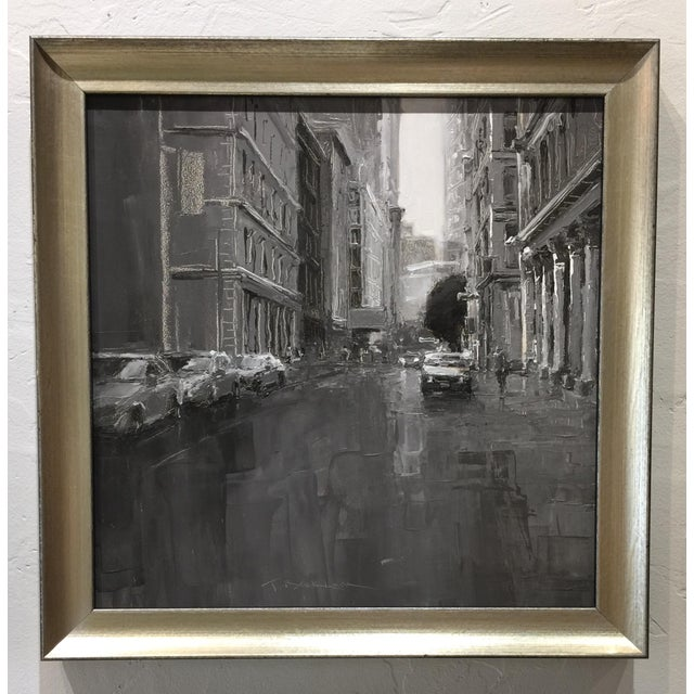 "Contemporary Beckham Contemporary ""Grand Street"" Framed Street Scene Painting For Sale - Image 3 of 7"