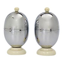 Midcentury Chrome Egg Cups - a Pair For Sale