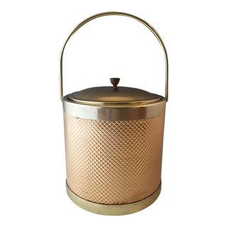 Mid-Century Modern Italian Gold Ice Bucket For Sale