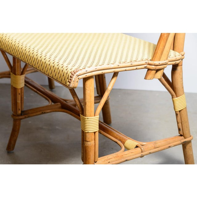 1970s Vintage French Maison Gatti Rattan and Bamboo Banquette Settee For Sale In West Palm - Image 6 of 13