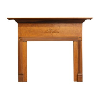 Early Federal Style Maple Mantel With Scroll Leaf Detail