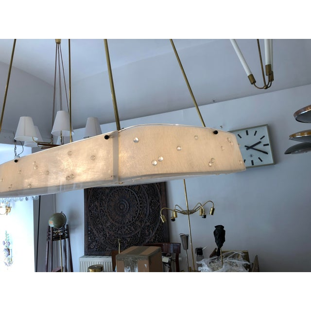 1950s Beautiful Midcentury Chandelier With Handmade Shades For Sale - Image 5 of 12