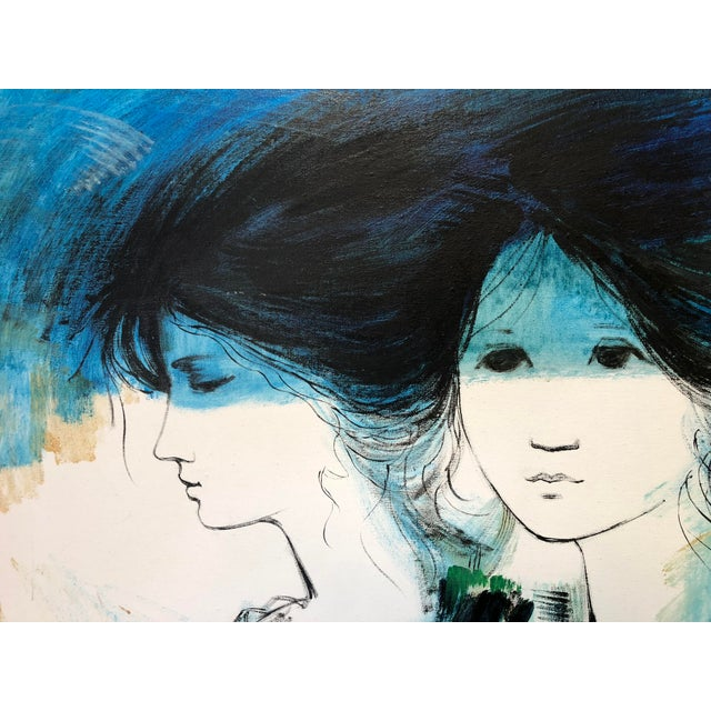 Contemporary 1970s Vintage Kevin McAlpin Ladies in Blue Oil Painting For Sale - Image 3 of 8