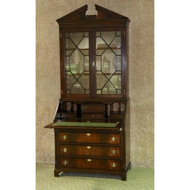 1980s Regency Style Secretary Desk For Sale - Image 10 of 12