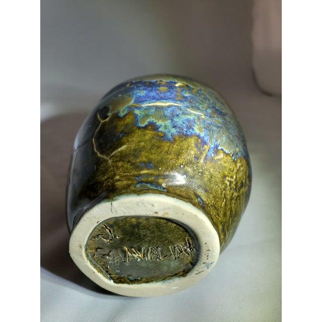 Mercury Glazed Handmade Pomegranate Porcelain Vase For Sale - Image 10 of 12