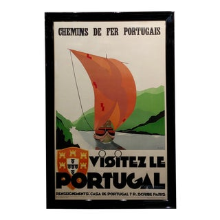Visitez Le Portugal -1937 Original Art Deco French Advertising Poster For Sale