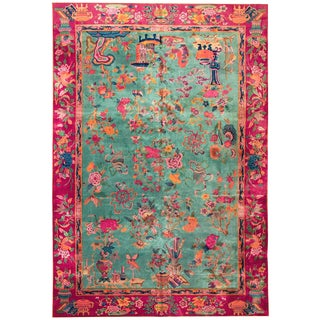 1920s Antique Chinese Art Deco Rug-12′ × 18′ For Sale