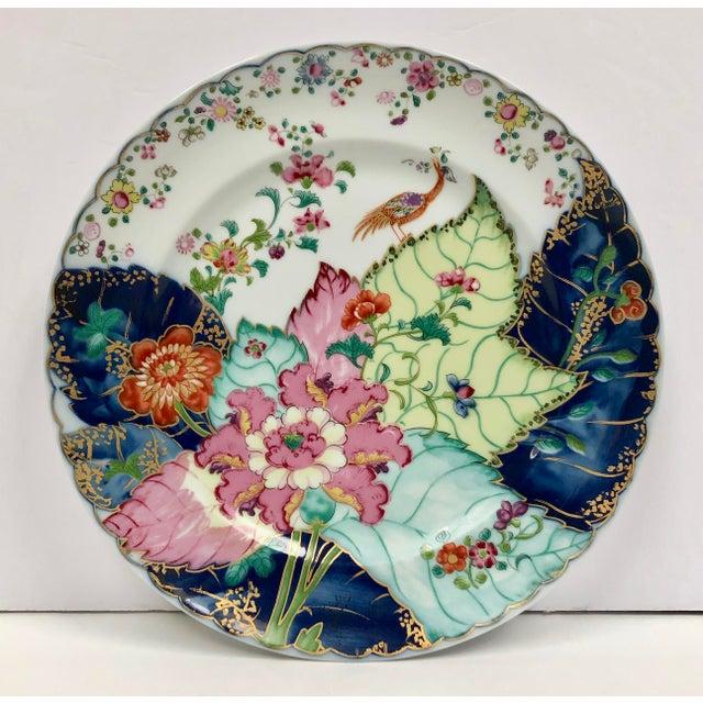 1980s Mottahedeh Tobacco Leaf Porcelain Plate For Sale In Dallas - Image 6 of 11