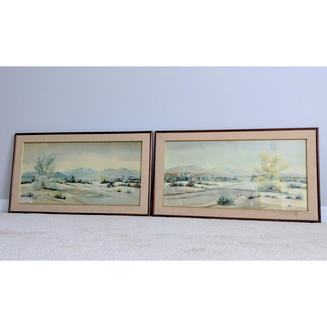 Evelyn E. McGinnis Mid-Century Watercolor Paintings - A Pair For Sale - Image 10 of 11