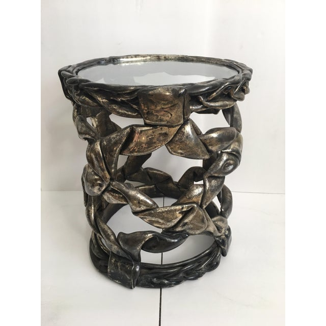 Tony Duquette Sculptural Hollywood Regency Ribbon Drinks Side Table, Tony Duquette Style For Sale - Image 4 of 9