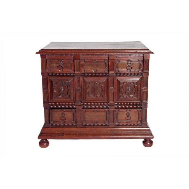A Late 19th Century Oak Jacobean Style Chest For Sale - Image 13 of 13