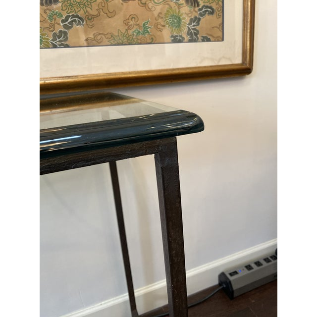 Iron and Glass Arrow Motif Console For Sale - Image 10 of 12