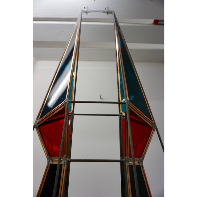 1960s 3D Stained Glass Sculpture For Sale - Image 5 of 8