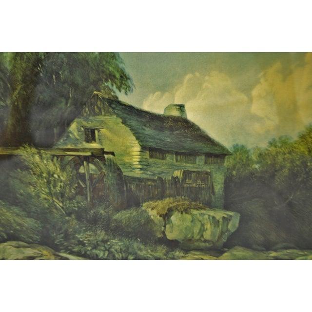 Glass Vintage Framed Landscape Print by Muller For Sale - Image 7 of 12