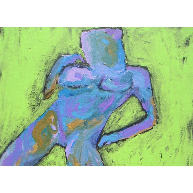 Abstract Oil Painting - Figural 1970s - Image 3 of 3